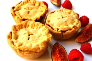 Fig and raspberry tarts