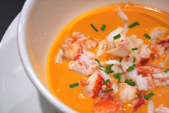 lobster bisque. Our third year together we had two of the best lobster ...