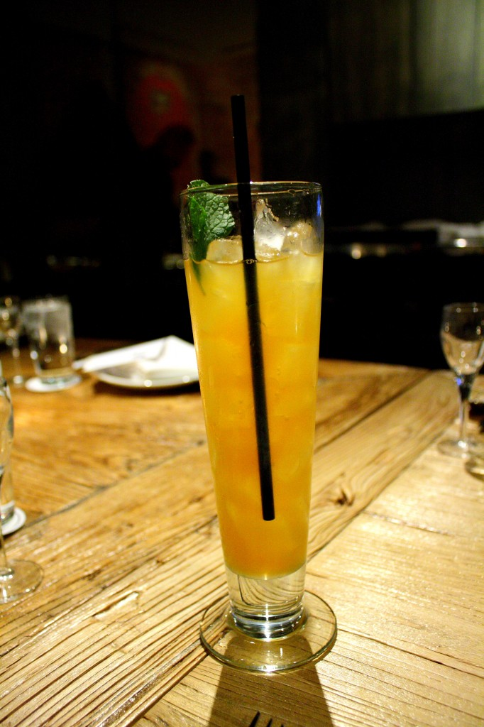Pineapple tequila cocktail
