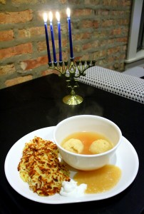 latkes and matzo balls