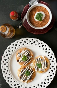 chicken black bean tostadas_4