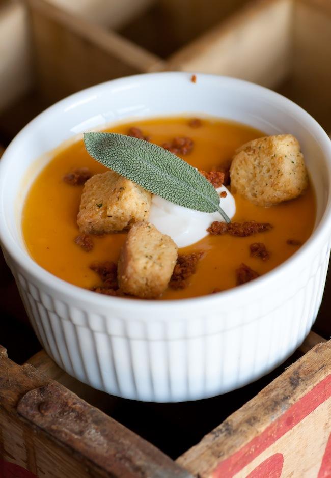 Sweet potato chorizo soup