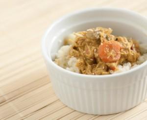 paleo curry with cauliflower rice