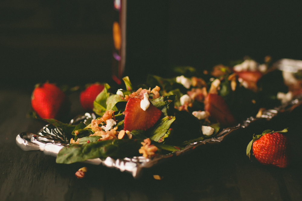 moody lighting tutorial & Strawberry balsamic salad recipe and a moody lighting photography ...