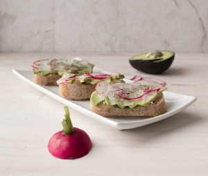 radish avocado crostini by Better with Butter
