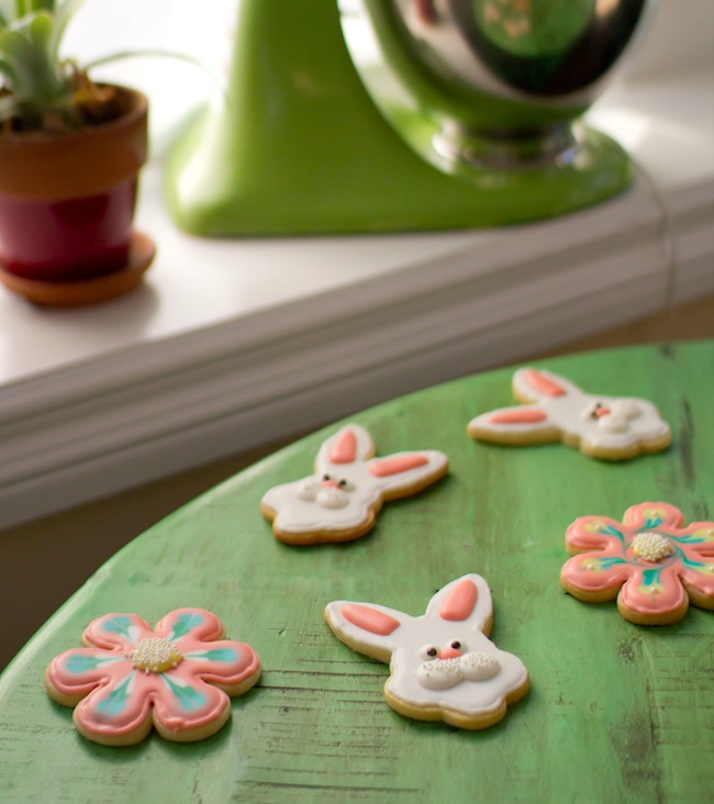 royal icing easter bunny cookies 9